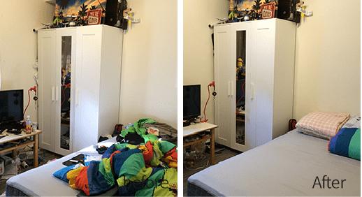 臥室前後對照圖